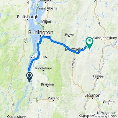 Ticondiroga, NY to Campground, VT