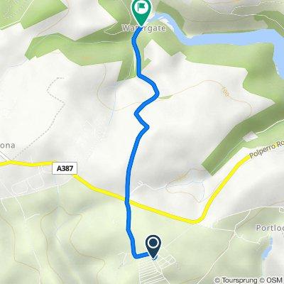 Tencreek Caravan Park, Polperro Road, Looe to 1 Watergate Cottages, Looe