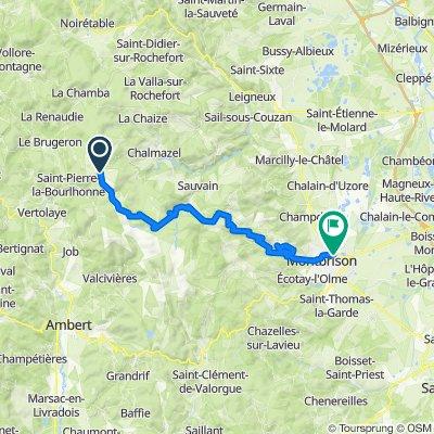De D40, Saint-Pierre-la-Bourlhonne à Rue du Bicètre 3, Savigneux