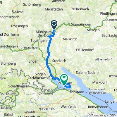 MEINRADWEG - 3. Tagesetappe: Beuron-Reichenau