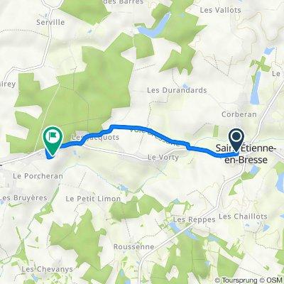 De 164 Route de Chalon, Saint-Etienne-en-Bresse à 10 Impasse des Vernes, Saint-Germain-du-Plain