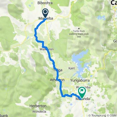 Mareeba to Malanda  Bike Route  (Perfect for E-Bike)