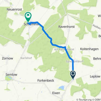 Barther Straße 11A, Eixen nach Am Schloss 2, Schlemmin