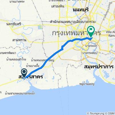 Rama II Frontage Road, Tambon Tha Chin to Sukhumvit 20 Alley 84