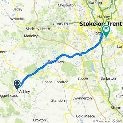 Springfields, Wesleyan Road, Market Drayton to 15 Welby St, Stoke-On-Trent