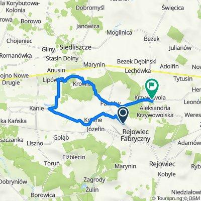 Gmina Rejowiec Fabryczny koncepcja szlaku rowerowego wschód