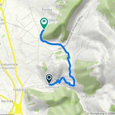 Frazione Bazzano Inferiore 63 nach Unnamed Road, Spoleto