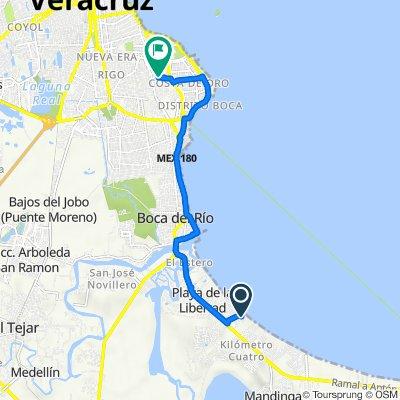 Ruta a Calle Clavel 117, Boca del Río