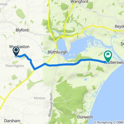 65–99 Blackheath Road, Wenhaston, Halesworth to West Wood, Lodge Road, Southwold