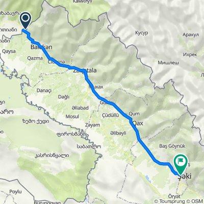Sınır Kapısı - Sheki 110 km