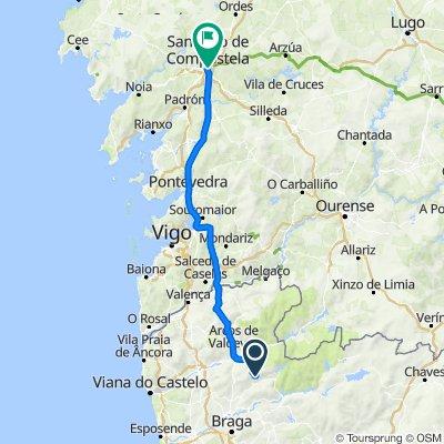 De CM1149 a Rúa do Vilar 51, Santiago de Compostela