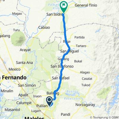 General Alejo G. Santos Highway 587, Plaridel to Delos Reyes Street, Gapan City