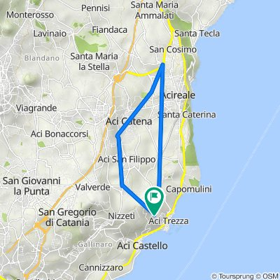 Da Via Vampolieri 37C, Aci Catena a Via Vampolieri 49, Aci Castello