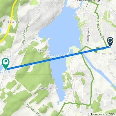 Flanaden 8, Vänersborg to Öxneredsvägen 171, Vänersborg