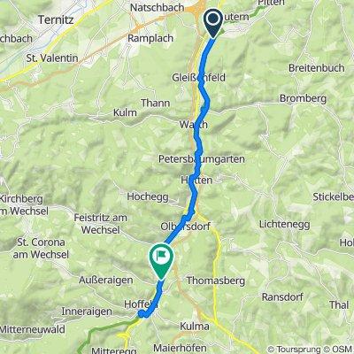 Schlossweg 18, Seebenstein nach Neugasse 10, Aspang Markt