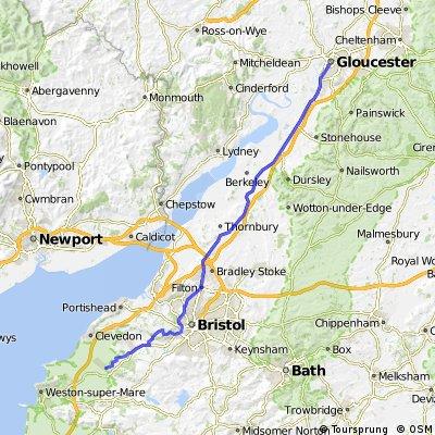 LEJOG Day 2 part 2 Yatton to Gloucester
