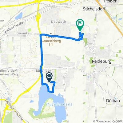 Zum Hufeisensee 30, Halle (Saale) nach Lupinenweg 20, Halle (Saale)