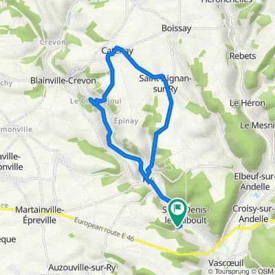 De La Houssaye, Saint-Denis-le-Thiboult à route du Moulin 509, Saint-Denis-le-Thiboult