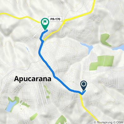 De Rua Aquiles Miquelan, 299, Apucarana a Rua Caviúna, 907, Apucarana