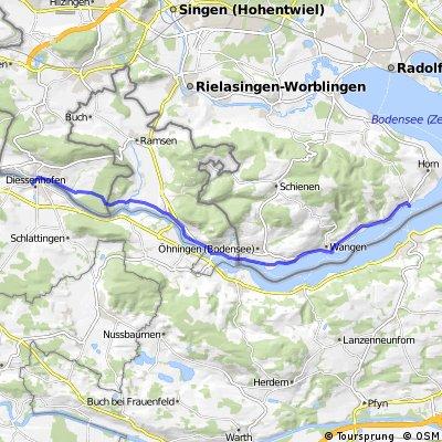 Konstanz nach Dissenhofen (CH) 2. Teil