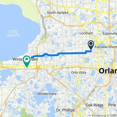 3182–3266 Mercy Dr, Orlando to 21 Windtree Ln, Winter Garden