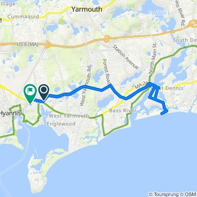 29–39 Town Brook Rd, West Yarmouth to 34 Drews Way, West Yarmouth