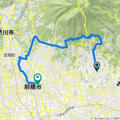 赤城山サイクリングマップ 02 赤城南麓利根川サイクリングコース