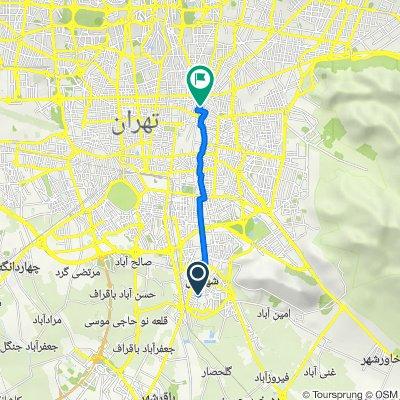 لاله یکم غربی, Shahr-e Rey to Ebne Sina Street, Tehran