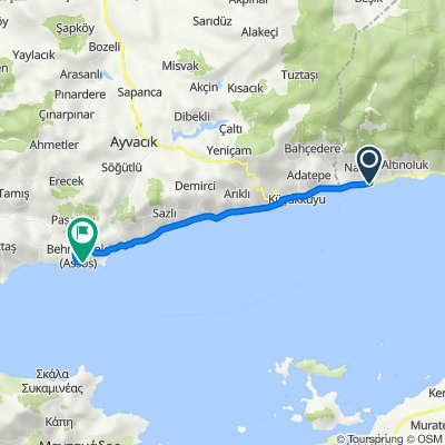 Route from Kocadere Cd. 83, Edremit