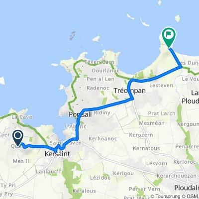 Itinéraire à partir de 13 Quélerec, Landunvez