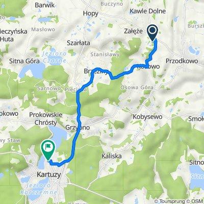 Myśliwska 4, Kosowo do Nowe Osiedle 13, Kartuzy