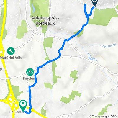 De 15 Avenue de la Source, Artigues-près-Bordeaux à 8bis Chemin du Canon, Floirac