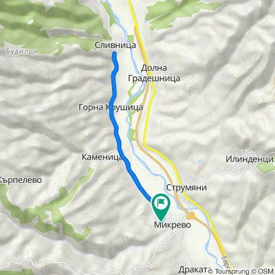 Route from 1082, Mikrevo