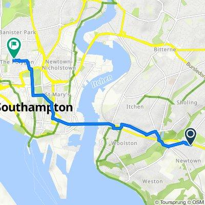 408 Portsmouth Road, Southampton to 34 Harborough Road, Southampton