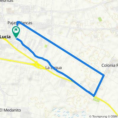 De Avenida Sarmiento 3100, Santa Lucía a Avenida Sarmiento 3100, Santa Lucía