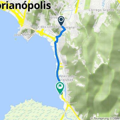 De Rua Padre Paulo Bratti, 280, Florianópolis à Rodovia Governador Aderbal Ramos da Silva, 5629, Florianópolis