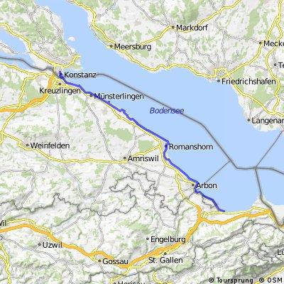 Rorschach (CH) nach Konstanz (D)