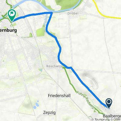 Umgehungsstraße 11A, Bernburg (Saale) nach Friedensallee 11A, Bernburg (Saale)