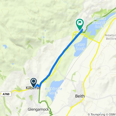 A760, Kilbirnie to 12 Lade Ct, Lochwinnoch