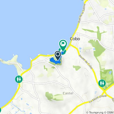 Route to Cobo Coast Road, Castel