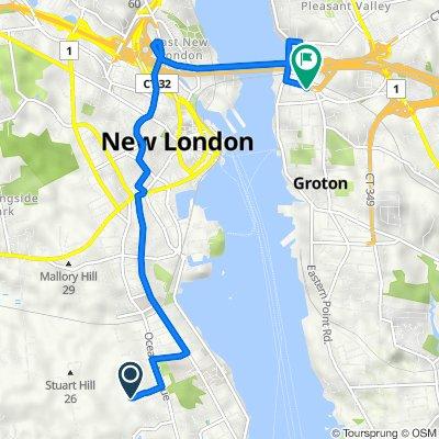 Nautilus Drive 239, New London to Bridge Street 171, Groton