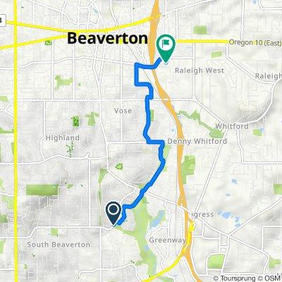 SW Greenway Blvd, Beaverton to 10950 SW Fifth St, Beaverton