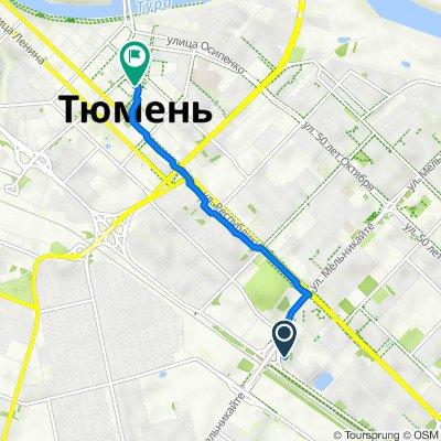 улица Мельникайте, 119, Tyumen to улица Хохрякова, 47, Tyumen