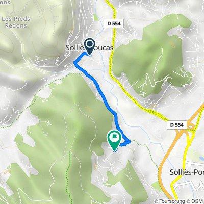 De Traverse de l'Hoir, Solliès-Toucas à 655 Chemin des Floralies, Solliès-Ville