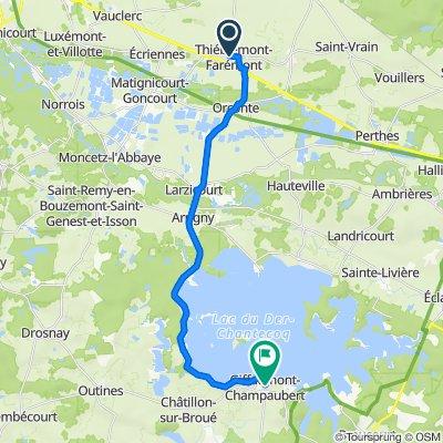 De 27 Grande Rue, Thiéblemont-Farémont à 24 Rue du Lac, Giffaumont-Champaubert