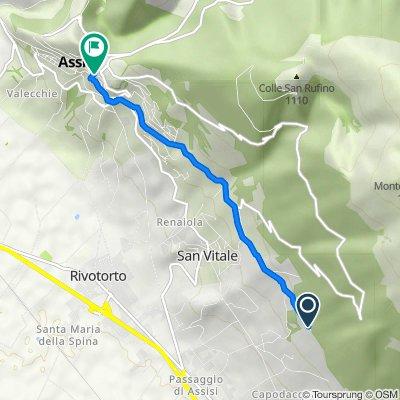 Via Fonte l'Abate, Assisi nach Salita degli Orti 7, Assisi