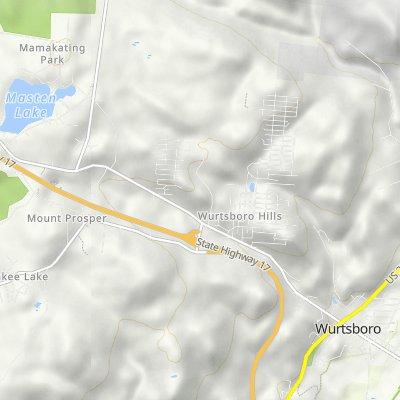 De Beach Rd, Wurtsboro a 164–174 Sullivan St, Wurtsboro