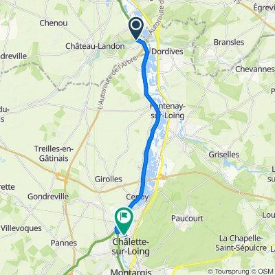 De Néronville, Château-Landon à Rue du Gué aux Biches, Châlette-sur-Loing