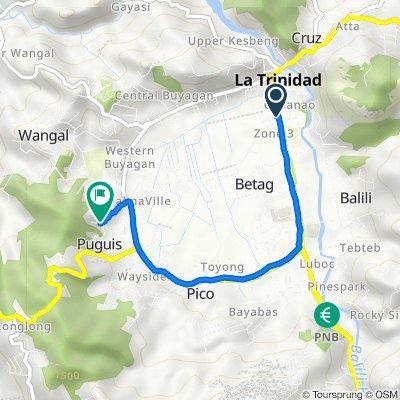 Buhao - Upper Wangal (LTO) - Buyagan - Poblacion - Km6 - Km5 - Pico - Buhao