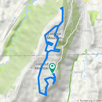 1400 Patten Rd, Lookout Mountain to 1400 Patten Rd, Lookout Mountain
